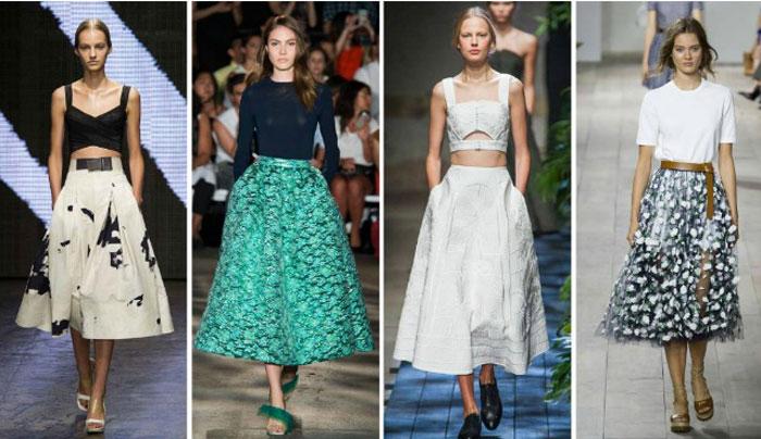 модные юбки весна 2017 2