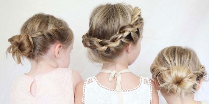 детские прически на длинные волосы весна-лето 2017 для девочек 4
