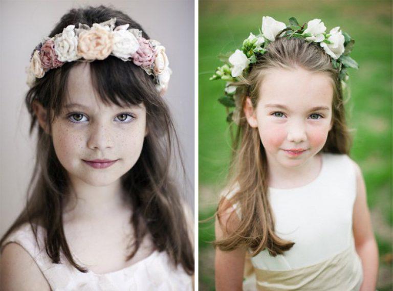 Прически для девочек с цветами