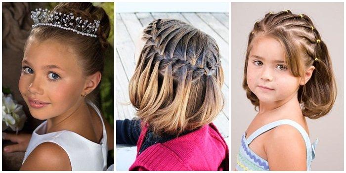 детские прически на средние волосы для девочек 3