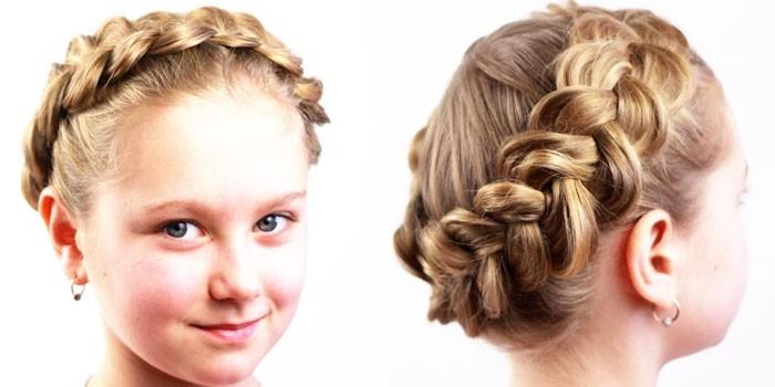детские прически на длинные волосы весна-лето 2017 для девочек 1