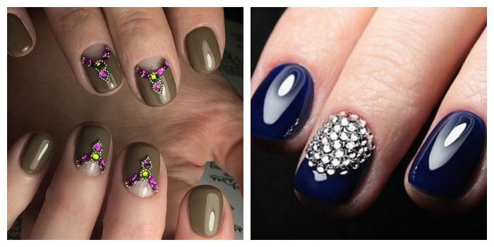 дизайн ногтей со стразами 3