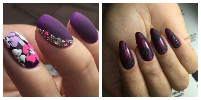 дизайн ногтей со стразами 4