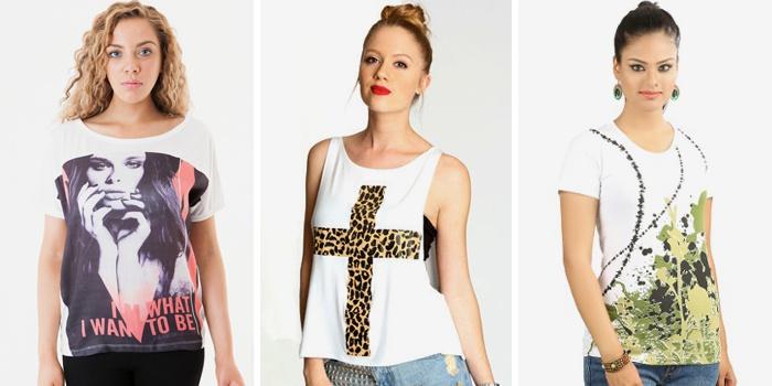 футболки с принтами и однотонные модели 2