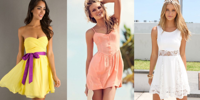 летние платья 2017, модные тенденции и тренды на фото