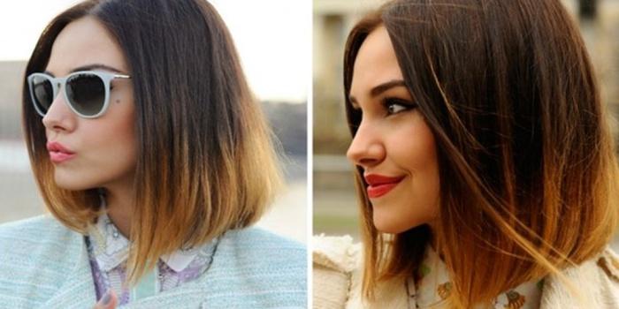 фото с челкой и без нее модного мелирования на короткие волосы, фото 1