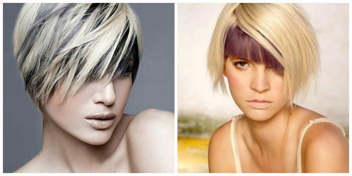 фото с челкой и без нее модного мелирования на короткие волосы, фото 2