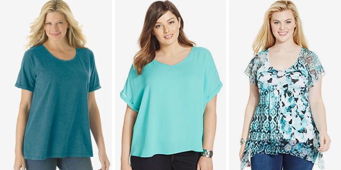 туники, футболки, блузки и майки для полных девушек и женщин 1