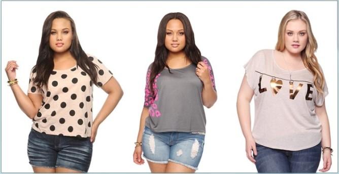 туники, футболки, блузки и майки для полных девушек и женщин 2