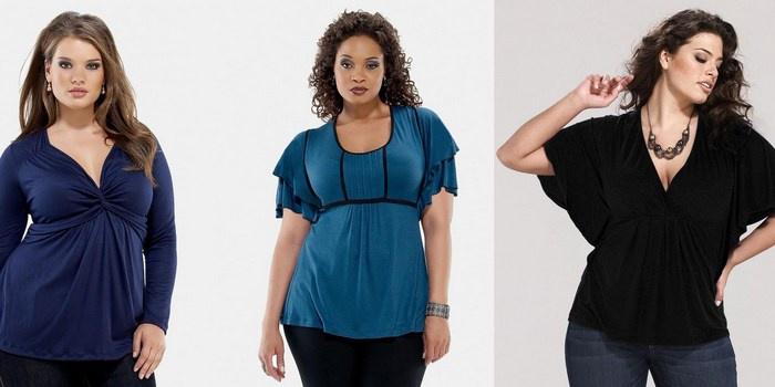 туники, футболки, блузки и майки для полных девушек и женщин 4