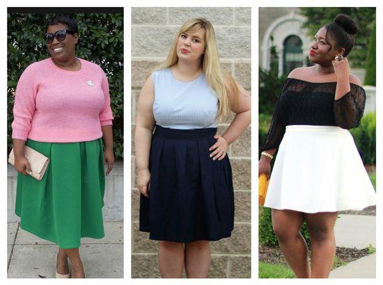 модные юбки для полных девушек и женщин 2