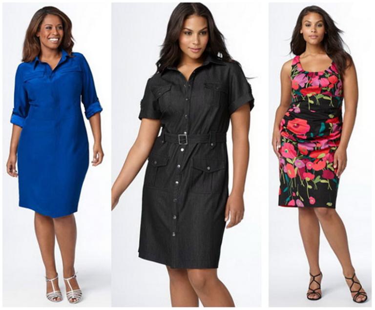 Женские платья для полным