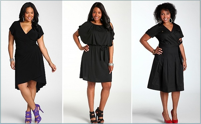 модные платья для полных женщин и девушек 1