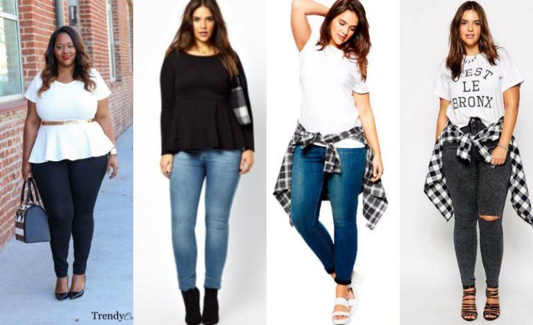 модные брюки и джинсы для полных женщин и девушек 1