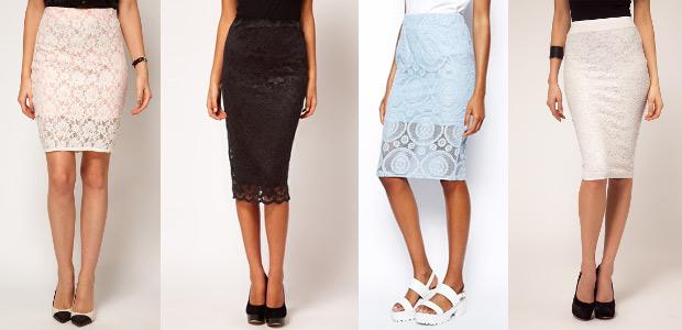 модные кружевные юбки