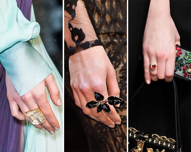 модные кольца весна-лето 2017, тенденции на фото 1