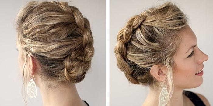 косы на средние волосы 1