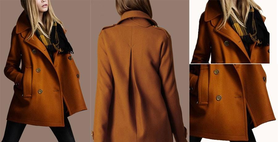 модные пальто с воротником