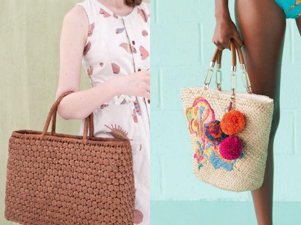 плетеные сумки на лето 1