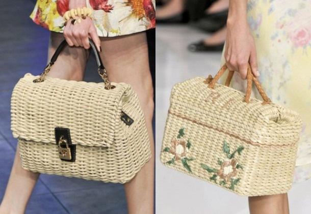 плетеные сумки на лето 2