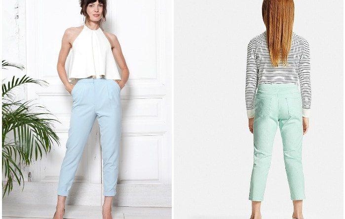 укороченные брюки 1