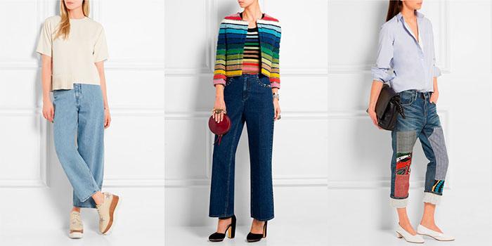 модные женские джинсы клеш