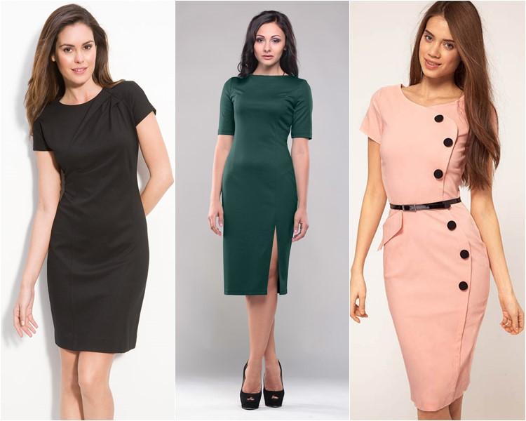 Новинки деловых платьев фото