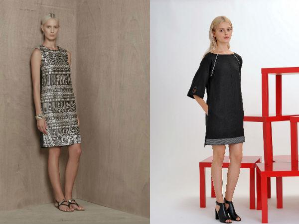 свободные фасоны деловых платьев выше колена