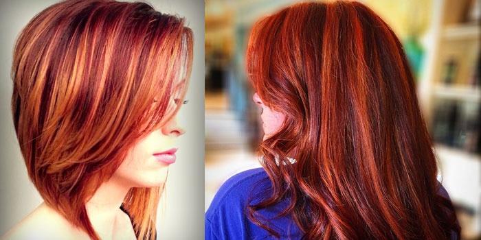 модное окрашивание волос для рыжих