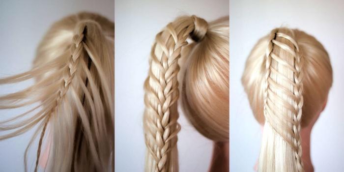тонкие косы и прически на их основе 2