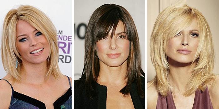 каскадная стрижка на средние волосы 1