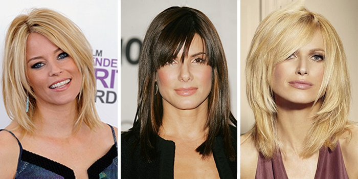 лучшие стрижки на средние волосы с челкой и без, новинки на фото 1