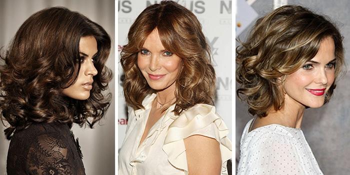 градуированные стрижки на средние волосы 2