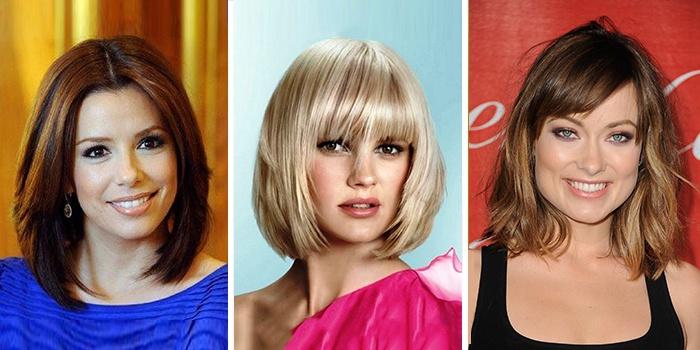 градуированные стрижки на средние волосы 4