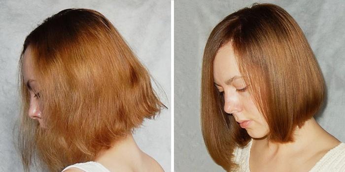 модные средние стрижки до и после посещения салона красоты фото 1