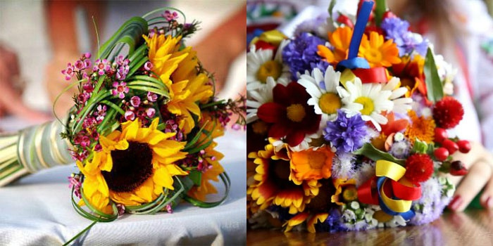 свадебный букет из полевых цветов 2