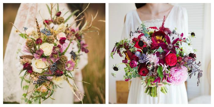 свадебный букет из полевых цветов 3