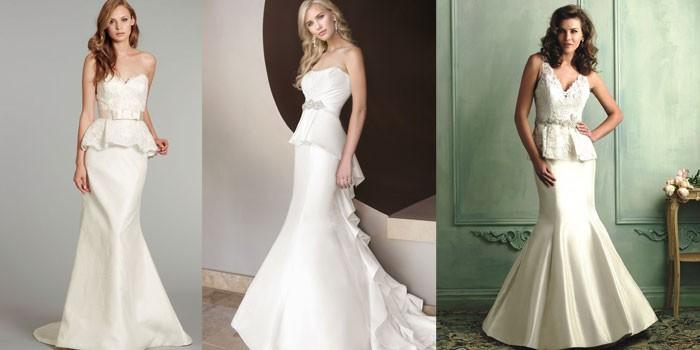 красивые свадебные платья весна-лето 2017, модные тенденции и тренды на фото