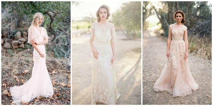 модные цвета свадебных платьев