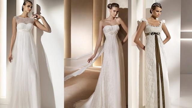свадебные платья в стиле ампир 1