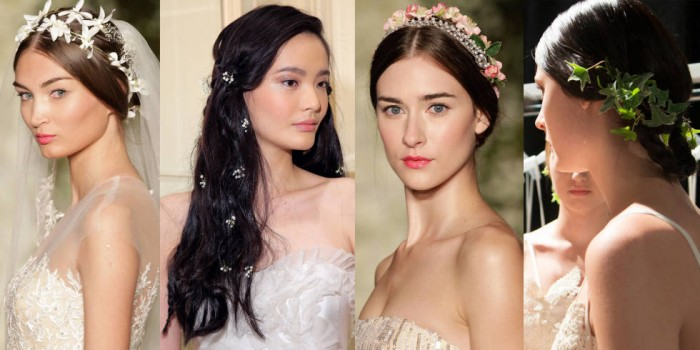 красивые свадебные прически весна-лето 2017, модные тенденции на фото