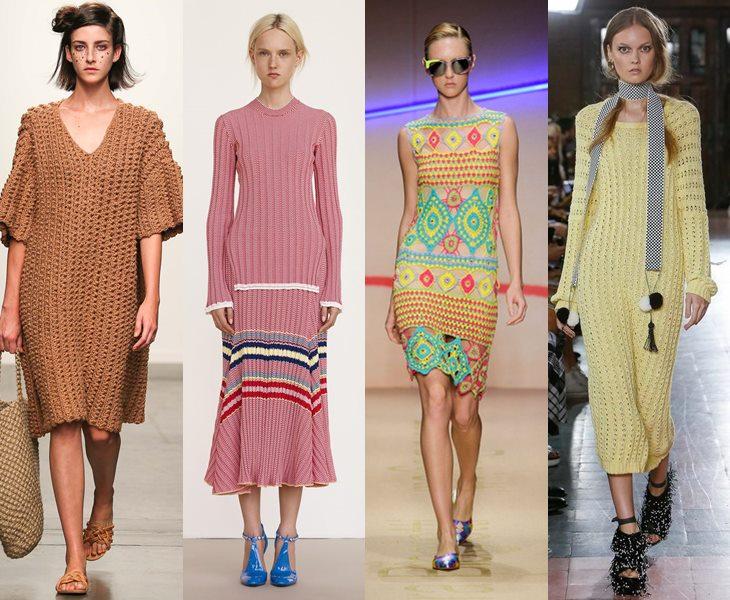 7828d47f57e Трикотажные платья весна-лето 2017  модные фасоны
