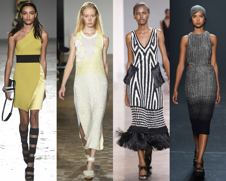 модное трикотажное платье, с чем носить весной и летом 2