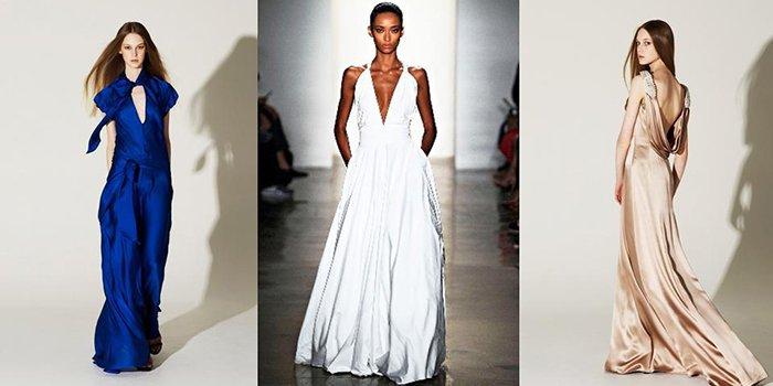 Сшить платье в пол из шёлка