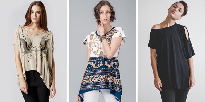 модные асимметричные рубашки и блузки