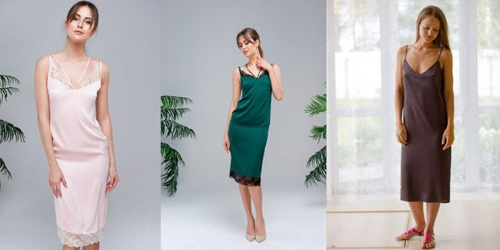 коктейльные платья из атласа и шелка 2