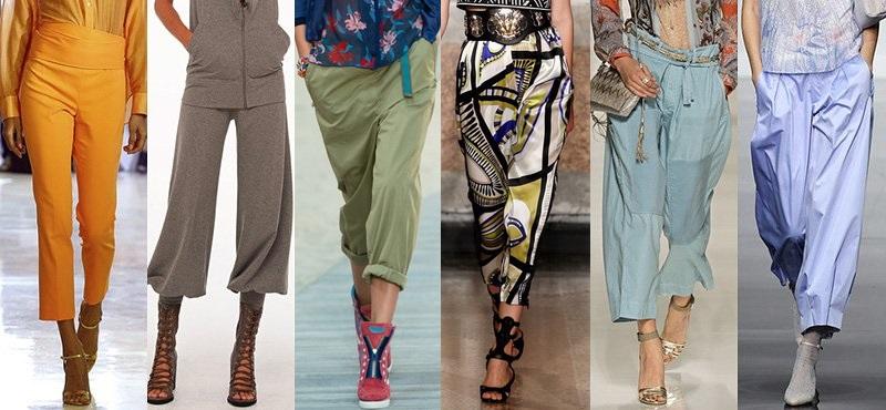 что модно носить летом 2017, брюки на фото 1