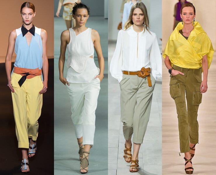 что модно носить летом 2017, брюки на фото 2