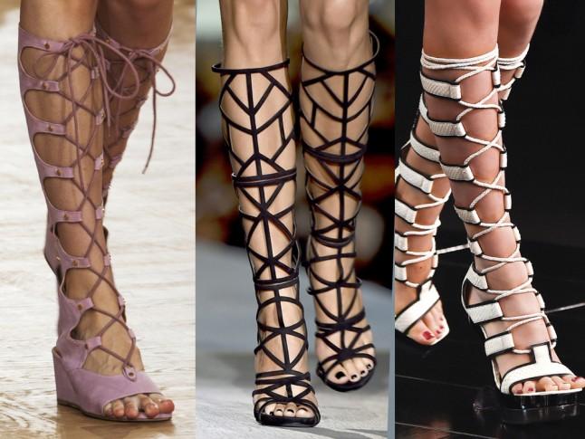 плетеные босоножки со шнуровкой 1