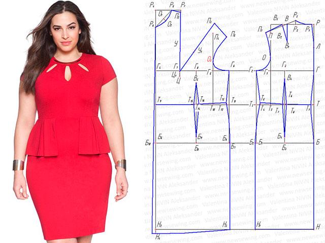 красивые и модные летние платья для полных женщин 2017, фото с выкройками 2